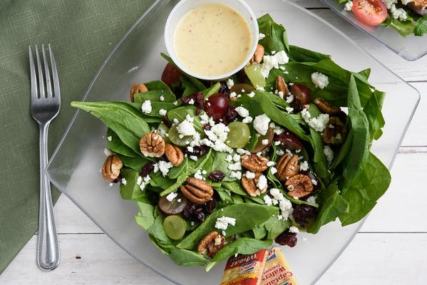 Spinach Salad & Honey Mustard