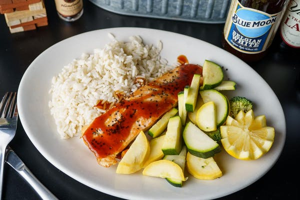Grilled Lemon Pepper or Teriyaki Salmon