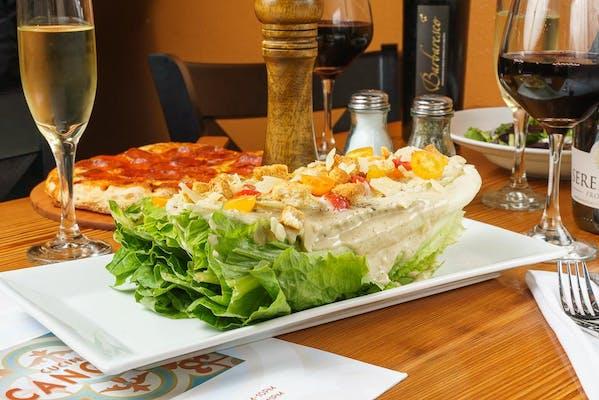 Caesar Salad & Herbed Breadsticks