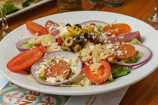 Italian Salad & Herbed Breadsticks