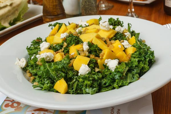 Kale & Mango Salad with Herbed Breadsticks