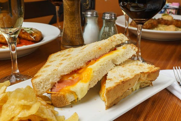 Grilled Cheese with Prosciutto Sandwich & Kettle Chips