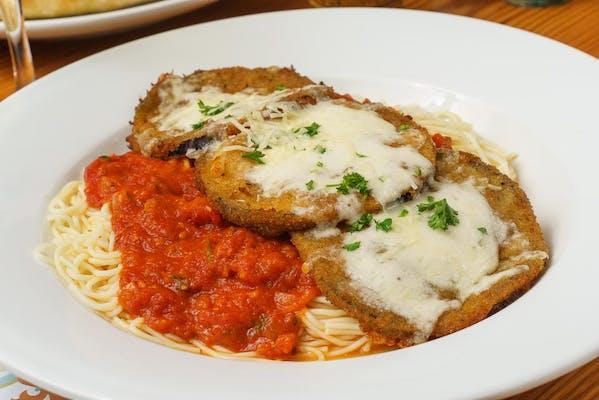 Chicken, Veal or Eggplant Parmesan