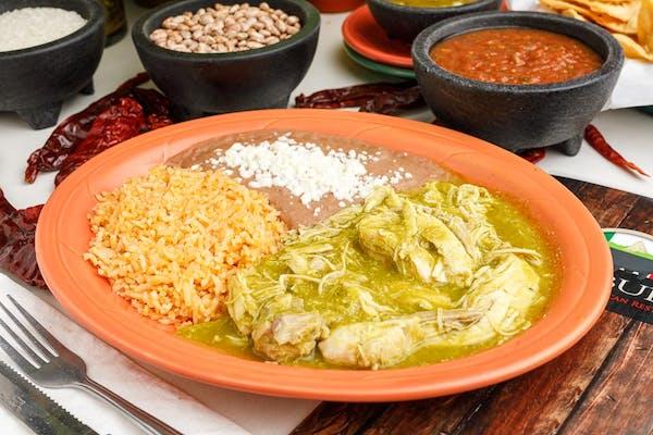 14. Guisado de Pollo with Rice & Beans