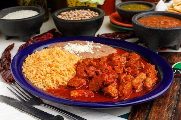 15. Guisado de Puerco with Rice & Beans