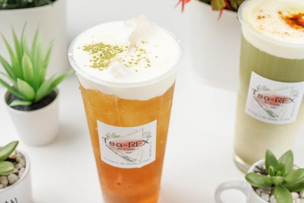 4. Green Foam Tea