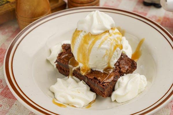 Double Chocolate Brownie Sandae
