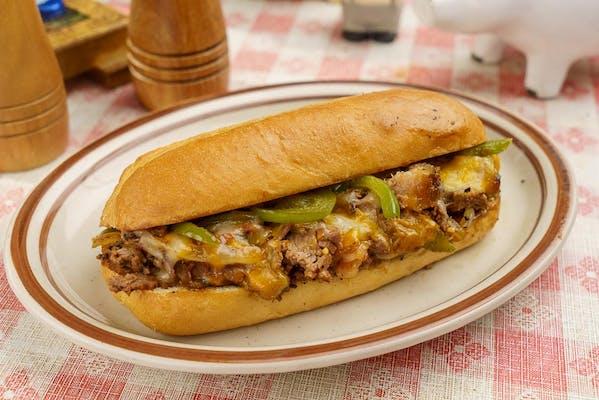 Brisket Cheese Steak Sandwich