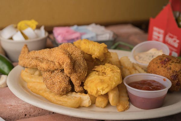 Catfish & Shrimp Combo Platter