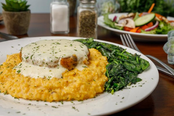 Crab Cake and Grits