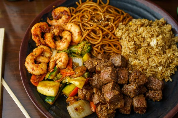 DC4. Steak & Shrimp Hibachi Combo