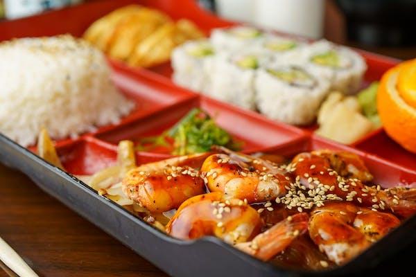 L08. Shrimp Teriyaki or Shrimp Tempura Bento