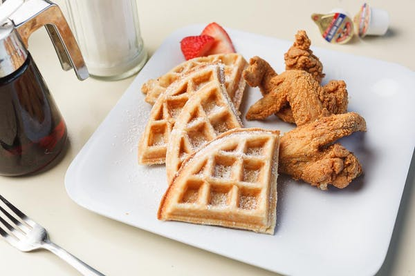 Chicken & Waffles Plate