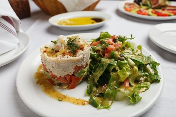 Fresh Crab Salad Napoleon