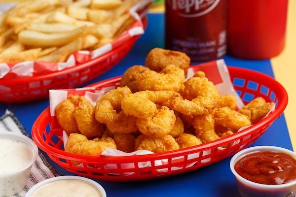 Fried Popcorn Shrimp Platter