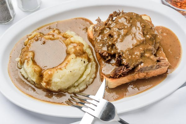 Open-Faced Roast Beef Sandwich