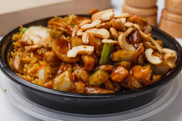 Chicken with Cashew Nuts Combination Plate