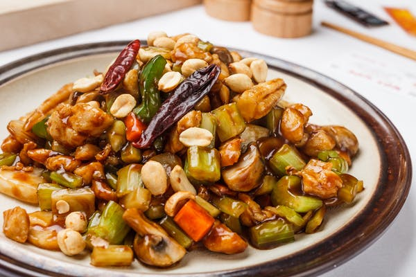 Kung Pao Chicken Combination Plate