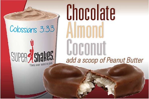 Super Charge Chocolate Almond Coconut Shake