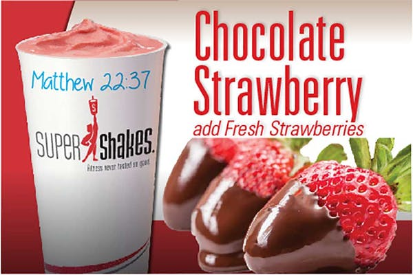 Super Fuel Chocolate Strawberry Shake