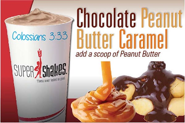 Super Gain Chocolate Peanut Butter Caramel Shake