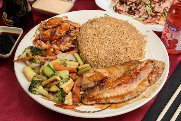 Chicken & Fish Hibachi Combo