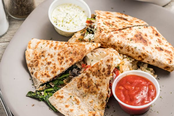 Portobello & Smoked Cheese Quesadilla