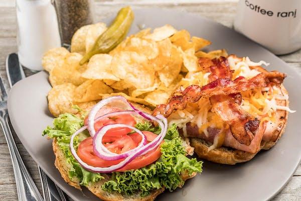 Croissant Club Sandwich