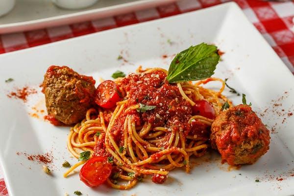Lunch Spaghetti & Polpette