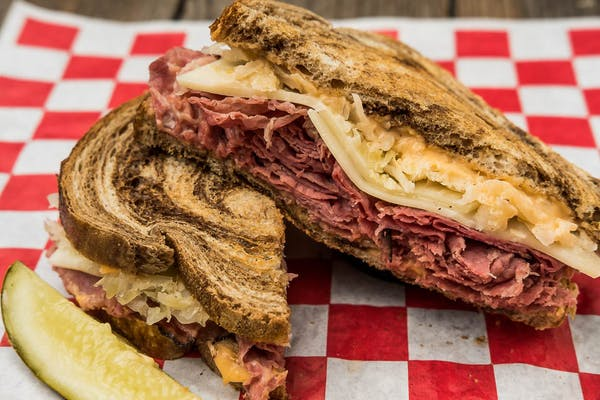 Zesty Reuben Sandwich on Marbled Rye