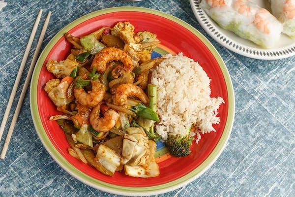 Tom Yum Stir-Fry Shrimp