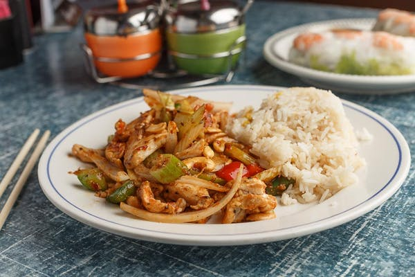 Spicy Cashew Chicken or Shrimp