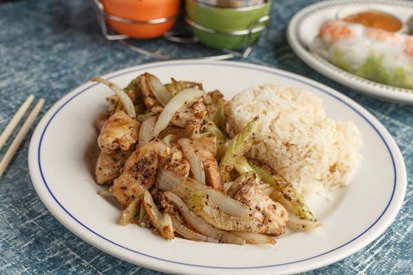 Black Pepper Chicken or Shrimp