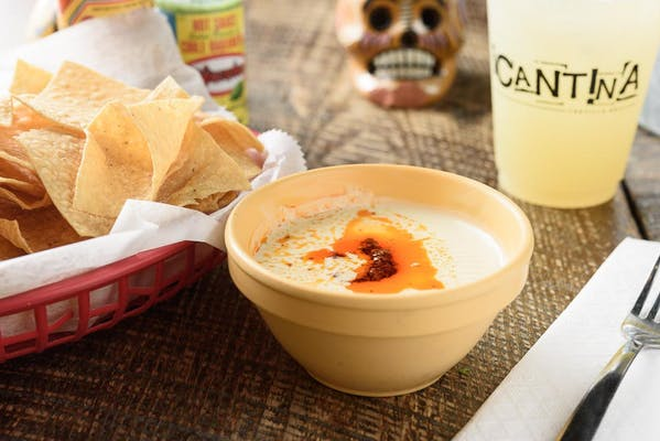 Chips & Cheese Dip With Chorizo