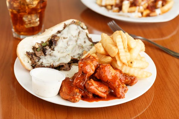 Philly & (6 pc.) Wing Combo