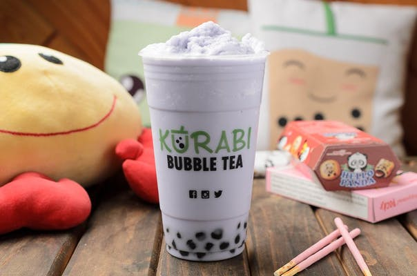 Taro Almond Milk Tea Smoothie