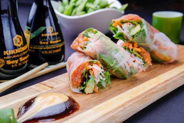 Fresh Spicy Tuna Spring Rolls Plate